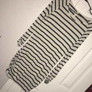 Medium Mid-Length Striped Dress